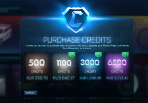 Rocket League - как получить кредиты в эру Blueprints